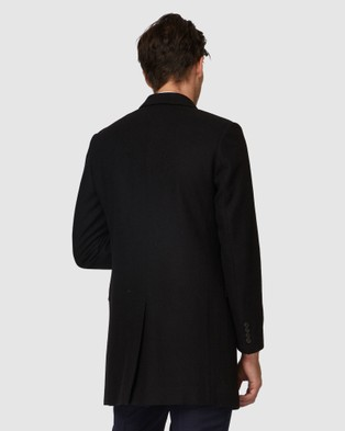 Jack London Black Topcoat - Coats & Jackets (Black)