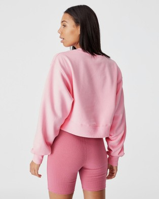 Cotton On Classic Cropped Crew Sweats Prism Pink
