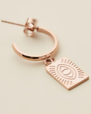 Carly Paiker Protection Eye Hoops - Jewellery (Rose Gold)