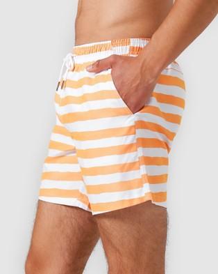 Vacay Swimwear Tenerife Swim Shorts - Swimwear (Orange)