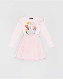 Rock Your Kid - ICONIC EXCLUSIVE - Bunny LS Baby Circus Dress - Kids-Teens