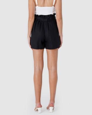 Amelius Sahara Shorts - High-Waisted (Black)