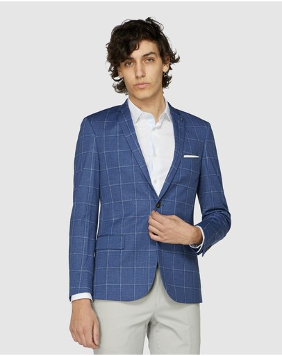 Jack London - Blue Check Blazer
