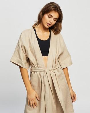 Le Buns Summer Lily Kimono - Sleepwear (Sand)