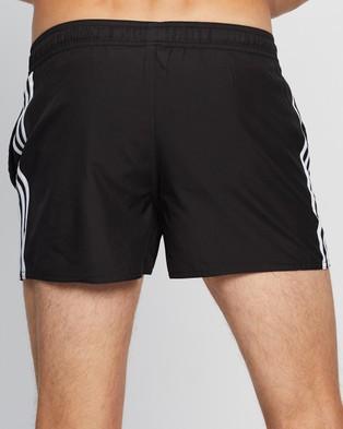 adidas Swim 3 Stripes CLX Shorts Black 3-Stripes