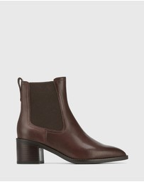 Wittner - Jenae Leather Elastic Gusset Ankle Boots