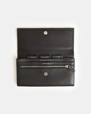 Globite Leather Travel Clutch with RFID - Travel and Luggage (Black)