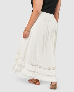 The Poetic Gypsy Frontier Maxi skirt - Skirts (White)