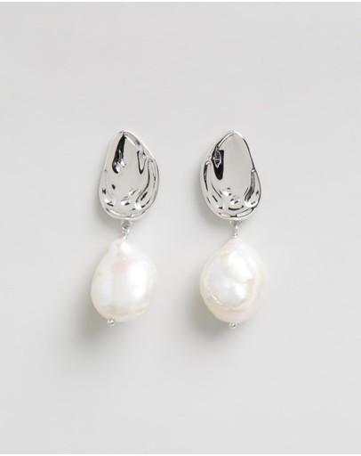 Bianc Atlantic Earrings Sterling Silver Rhodium Plated