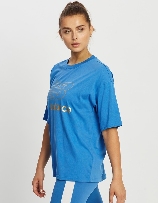 Women NB Athletics Village Short Sleeve Stacked Graphic Tee