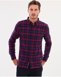 Staple Superior - Track Check Flannel Shirt