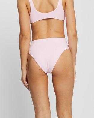 IT'S NOW COOL High Rise Pants - Bikini Bottoms (Pastel Pink Terry)