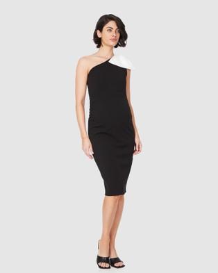 Soon Maternity Veronica Ribbon Dress - Bodycon Dresses (BLACK)