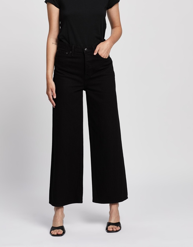 rag & bone - Maya High-Rise Ankle Wide Leg Jeans