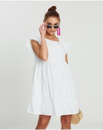 Missguided - Cotton Tiered Frill Smock Dress