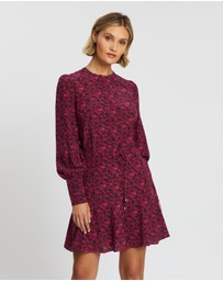 Rebecca Vallance - Rosette Long Sleeve Mini Dress