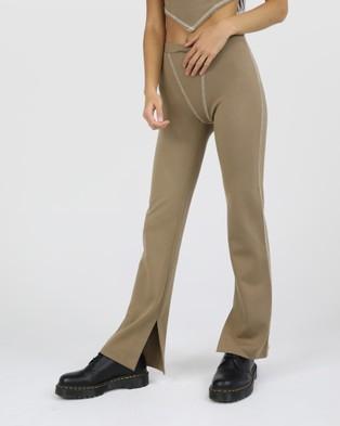 Dakota501 Ponte Pant - Pants (Brown)