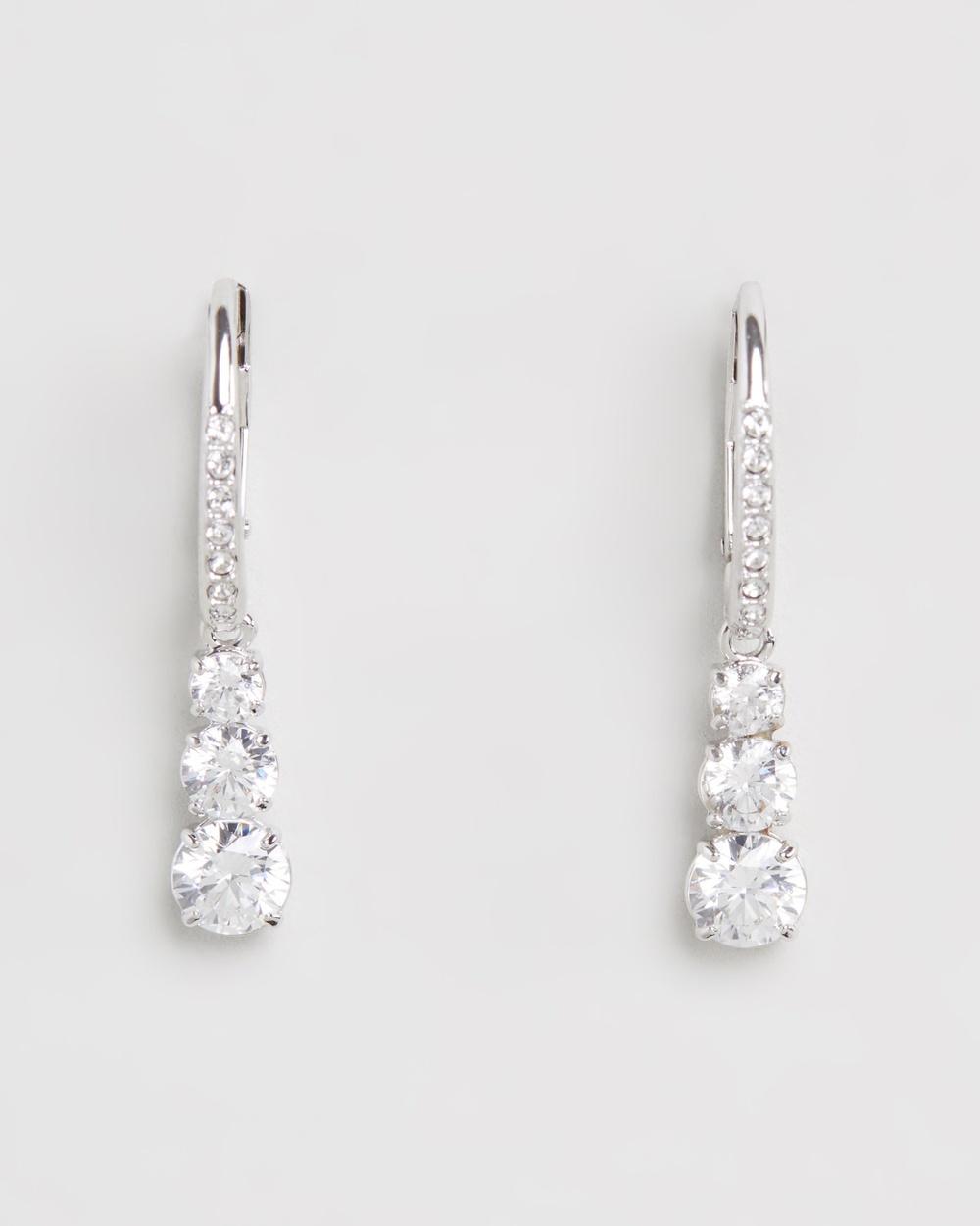 Swarovski Attract Trilogy Earrings Jewellery Silver