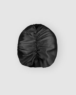 Shhh Silk Silk Turban - Wellness (Black)