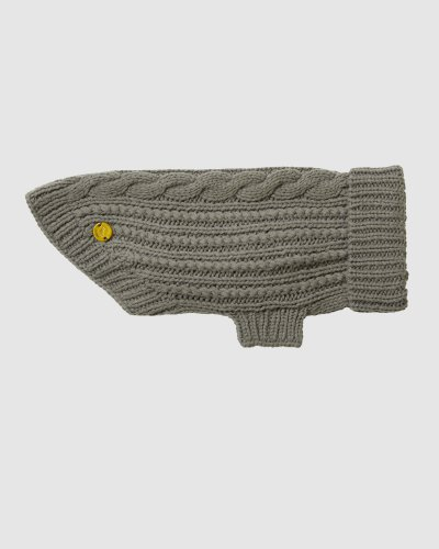 Cable Wool Dog Sweater