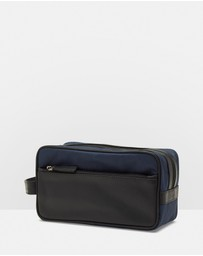 Kevin Leather Trim Wash Bag