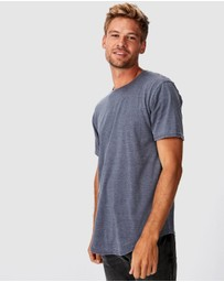 Cotton On - Longline Curve Hem Burnout Tee