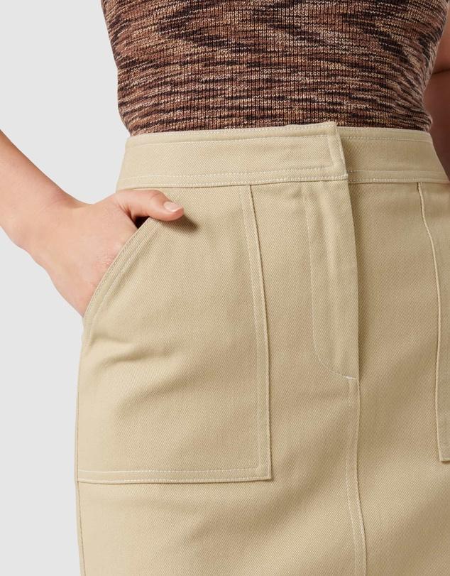 Women Rosa Contrast Stitch Mini Skirt
