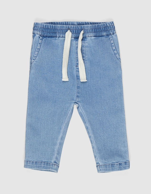 Huxbaby - Denim Relaxed Pants - Babies-Kids