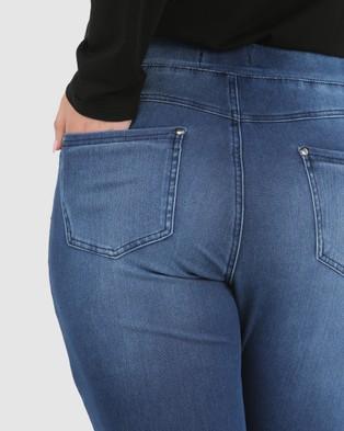 Advocado Plus Carmen Pull On Jeans - Pants (Medium Blue)