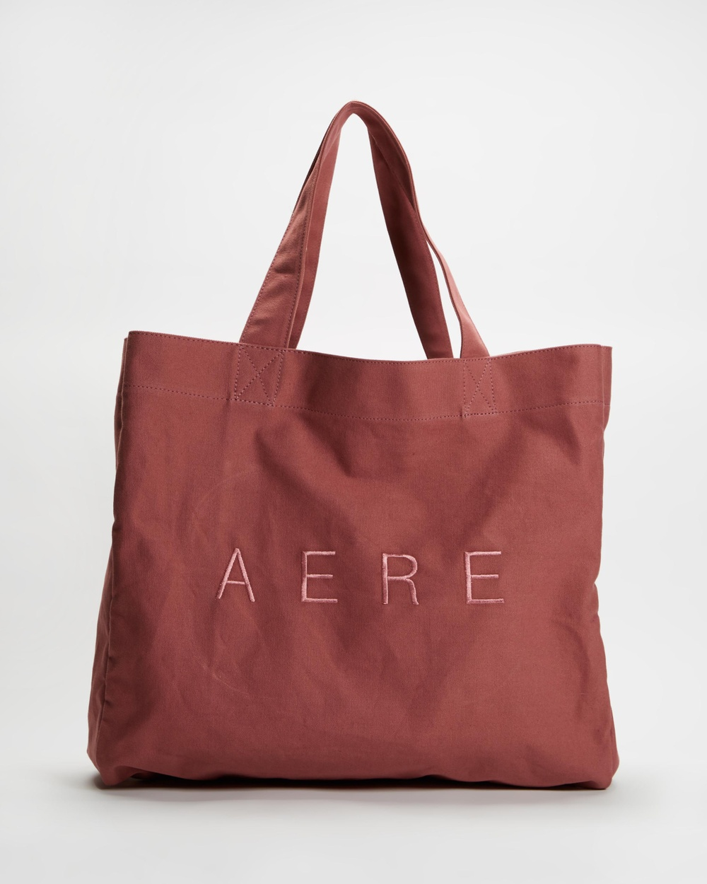 AERE Organic Canvas Oversized Tote Bags Pink
