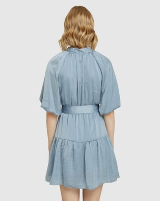 Oxford Arina Silky Dress - Dresses (Blue)