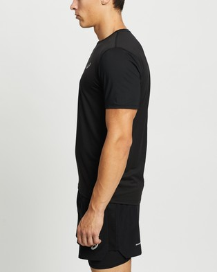 ASICS Run SS Top - Short Sleeve T-Shirts (Graphite Grey & Silver)