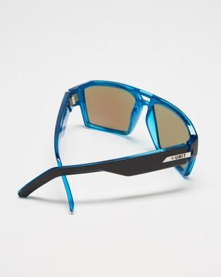 UNIT Vault Polarised Sunglasses - Square (Matte Black & Blue)