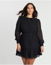 Atmos&Here Curvy - ICONIC EXCLUSIVE - Melissa High Neck Dress