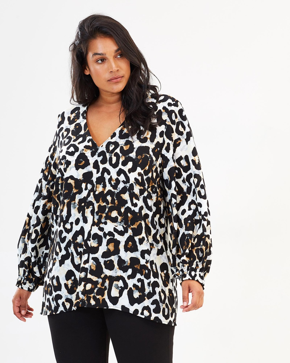 Harlow Don't Stop Me Now Blouson Top Tops Leopard Don't Stop Me Now Blouson Top