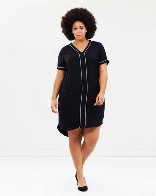 JUNAROSE – Aloha Short Sleeve Dress Black