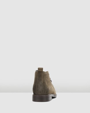 Hush Puppies Harbour - Boots (Olive Suede)
