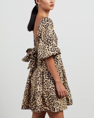 Faithfull The Brand Eryn Mini Dress - Printed Dresses (Shamari Animal Print)