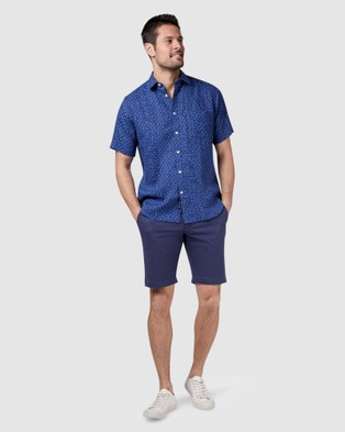 Blazer Arthur Short Sleeve Print Shirt - Shirts & Polos (Navy Multi)