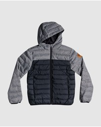 Quiksilver - Boys 8-16 Scaly Mix Water Repellent Hooded Insulated Jacket