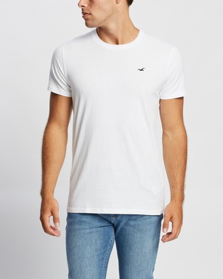 Hollister Logo Crew Tee 2 Pack - T-Shirts & Singlets (White & Black)