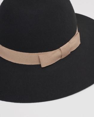 Kate & Confusion Classic Felt Floppy Hat - Hats (Black)