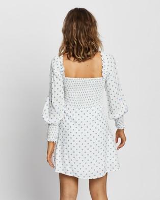 Faithfull The Brand Arianne Mini Dress - Printed Dresses (Maurice Dot Print)