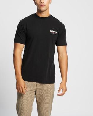 Brixton - Palmer Line SS Standard Tee Short Sleeve T-Shirts (Worn Wash Black)