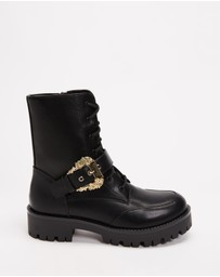Versace Jeans Couture - Western Buckle Combat Boots