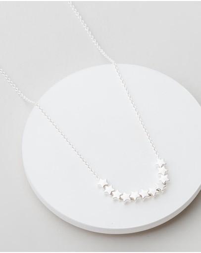 Estella Bartlett Stars So Bright Necklace Silver Plated