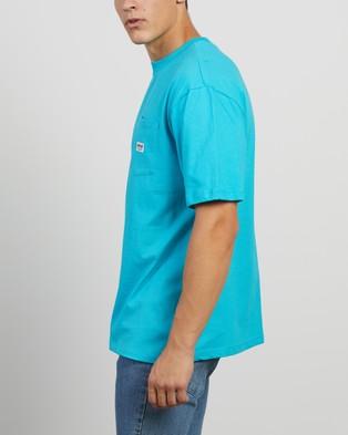 Guess Originals - Pocket Label SS Tee - T-Shirts & Singlets (Paraiso Blue) Pocket Label SS Tee