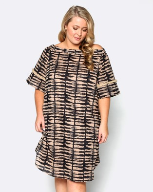 Adrift – Bell Dress Animal Print
