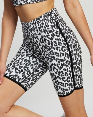 The Upside Dance Spin Shorts - 1/2 Tights (Snow Leopard)