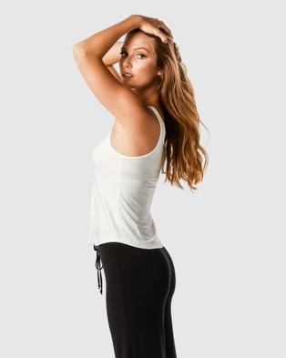 Deshabille Sleepwear  Ruby Tank - Sleepwear (Ivory)
